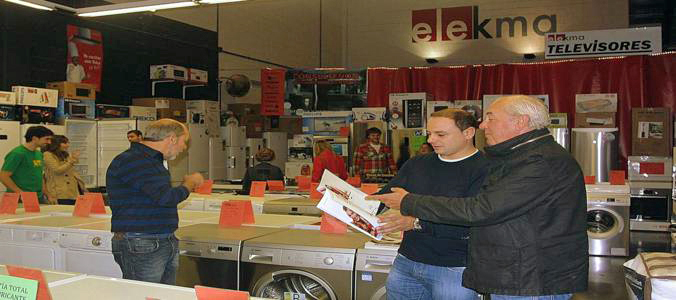 Exposición de Electrodomésticos Baratos primeras marcas en Euskadi en Elekma