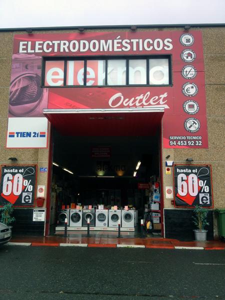 Fachada exposición de electrodomésticos en Bizkaia Elekma
